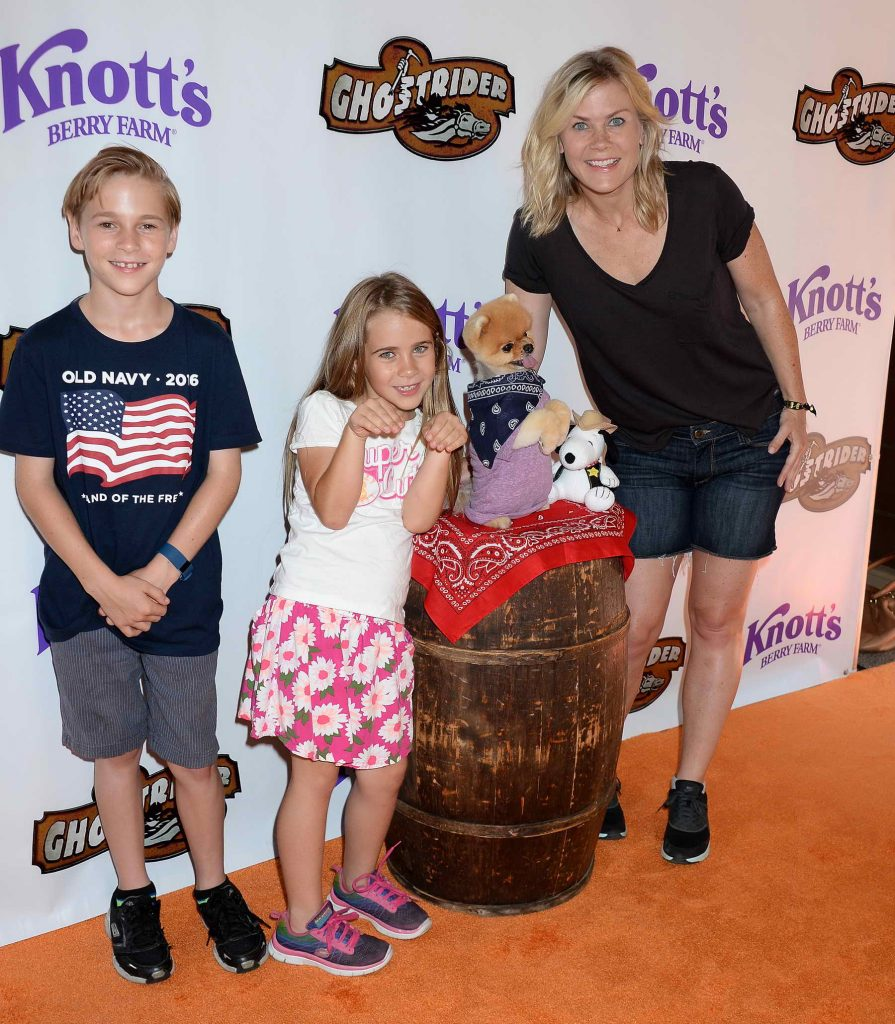 Alison Sweeney at Knotts Berry Farm in Buena Park, California-5