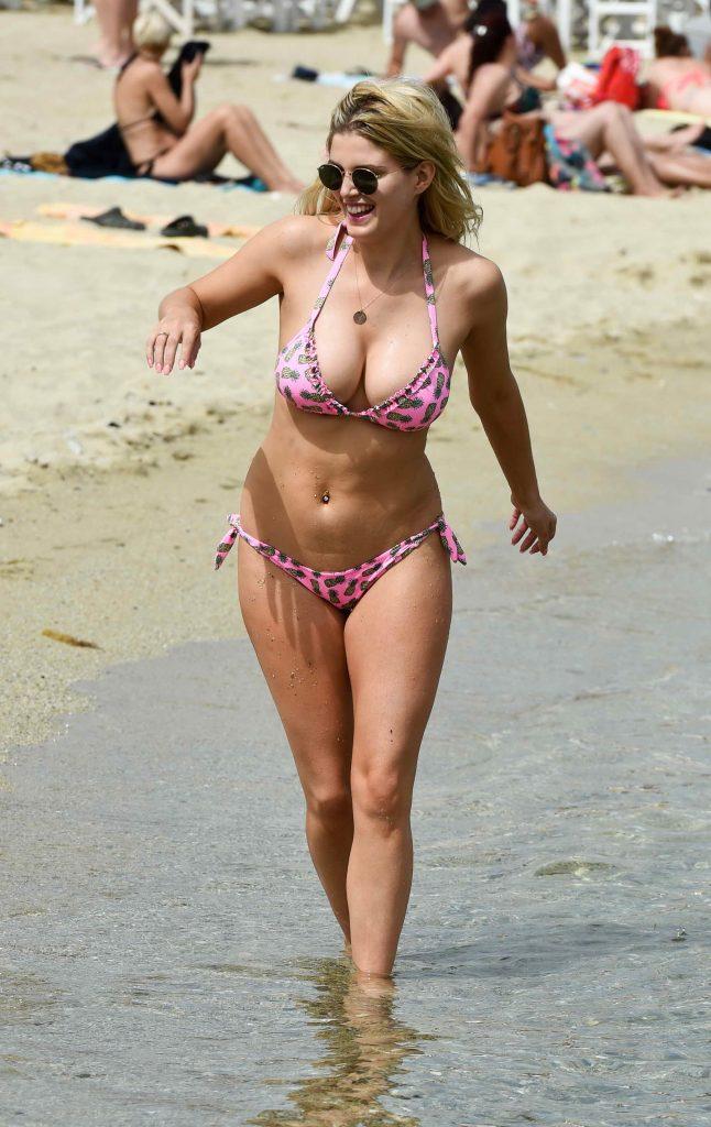 Ashley James in Bikini at the Beach in Mykonos ,Greece ...