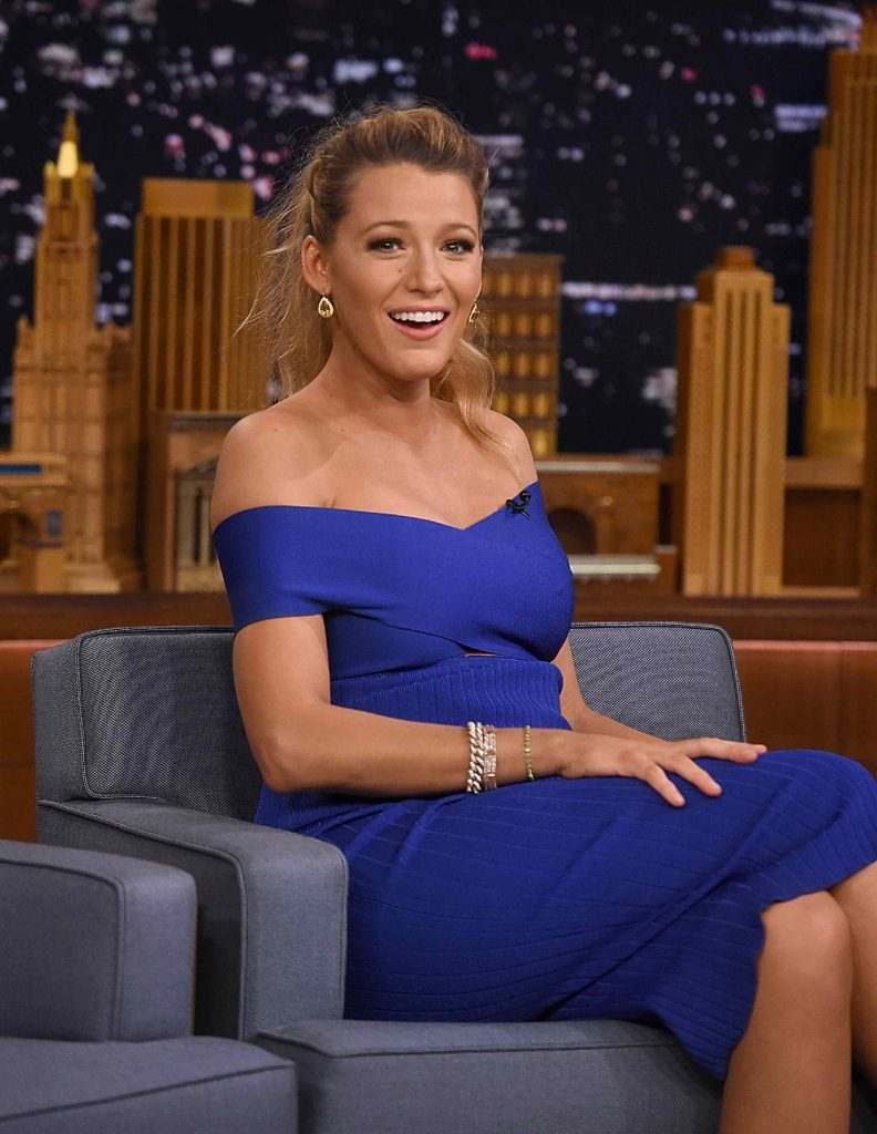 Blake Lively at The Tonight Show Starring Jimmy Fallon in New York City-3