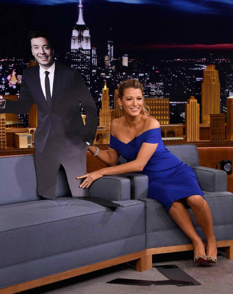 Blake Lively at The Tonight Show Starring Jimmy Fallon in New York City-4
