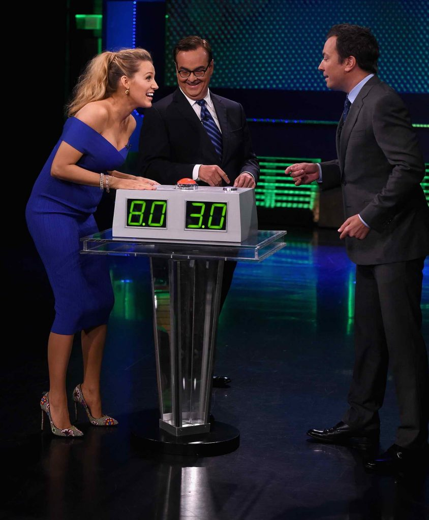 Blake Lively at The Tonight Show Starring Jimmy Fallon in New York City-5