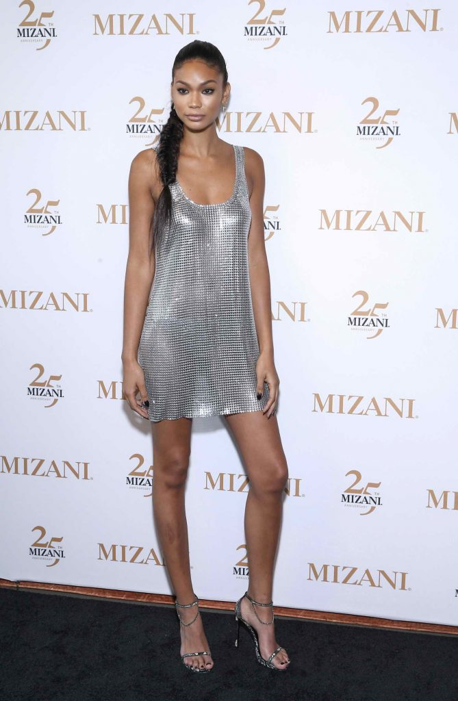 Chanel Iman Celebrates 25th Anniversary and New Styling Collection Mizani in New York City-1