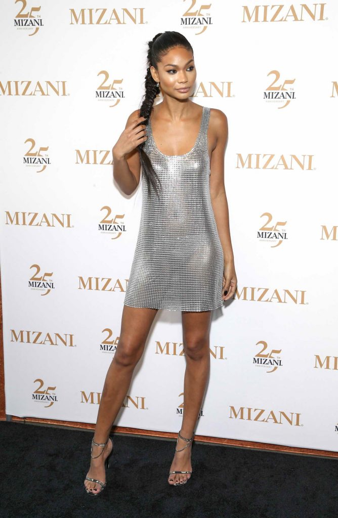 Chanel Iman Celebrates 25th Anniversary and New Styling Collection Mizani in New York City-3