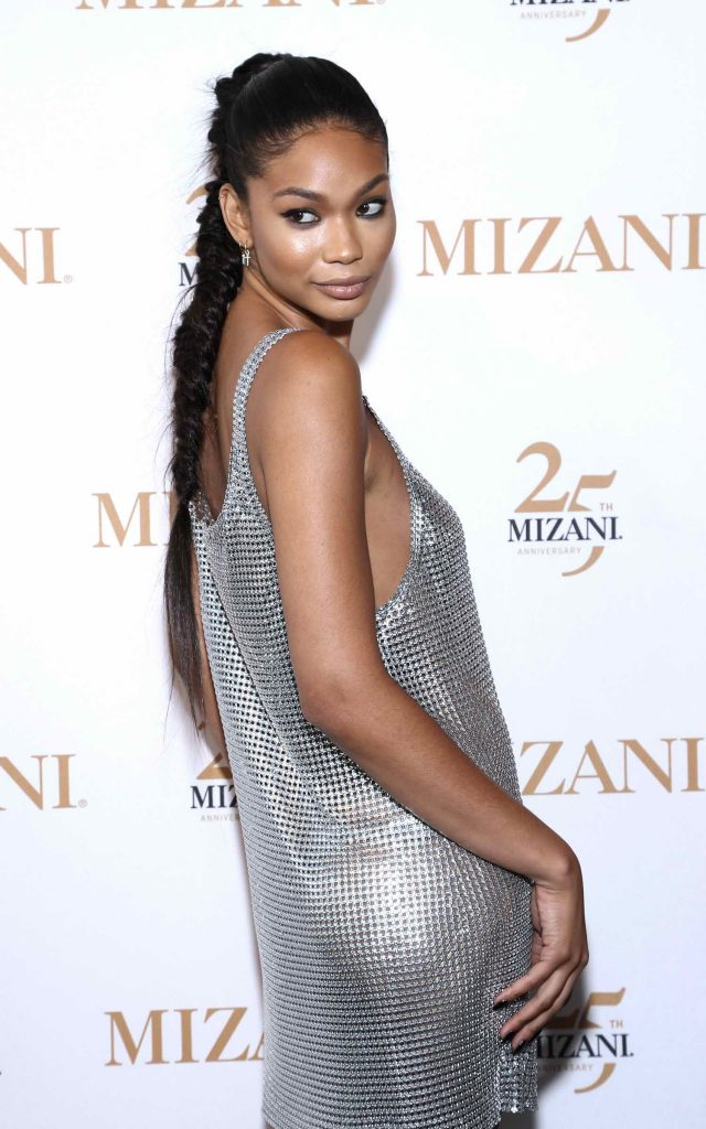 Chanel Iman Celebrates 25th Anniversary and New Styling Collection Mizani in New York City-4