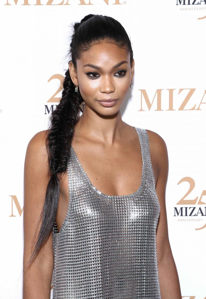 Chanel Iman Celebrates 25th Anniversary and New Styling Collection Mizani in New York City-5