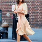 Helena Christensen Was Seen in West Village in New York City