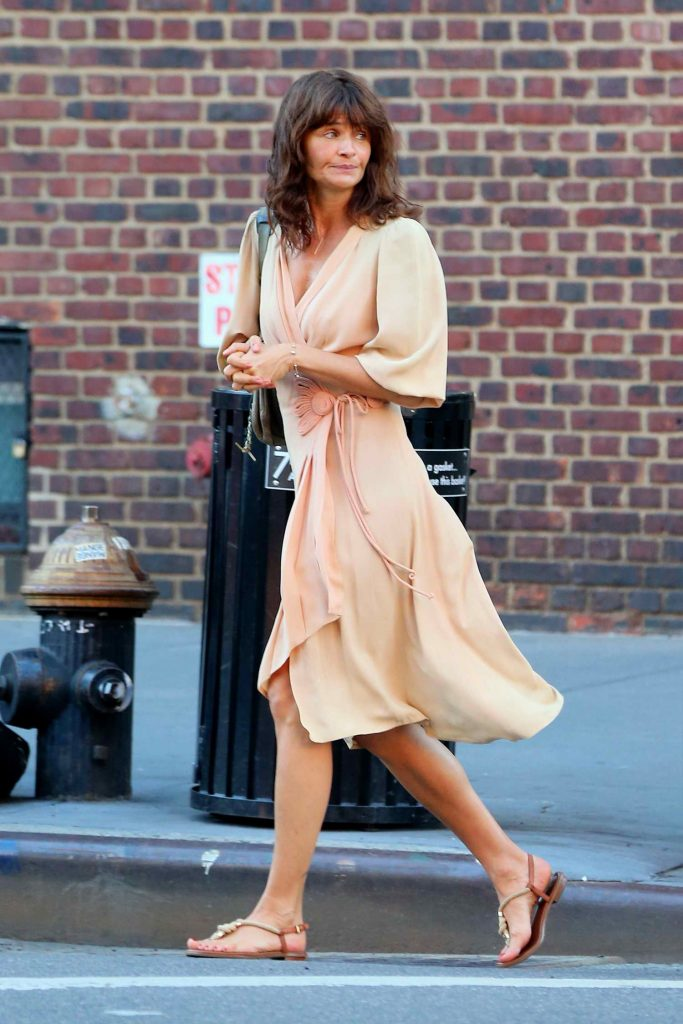 Helena Christensen Was Seen in West Village in New York City-1
