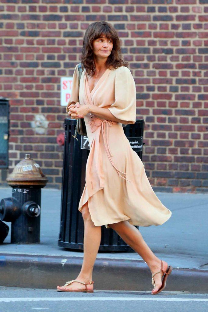 Helena Christensen Was Seen in West Village in New York City-1
