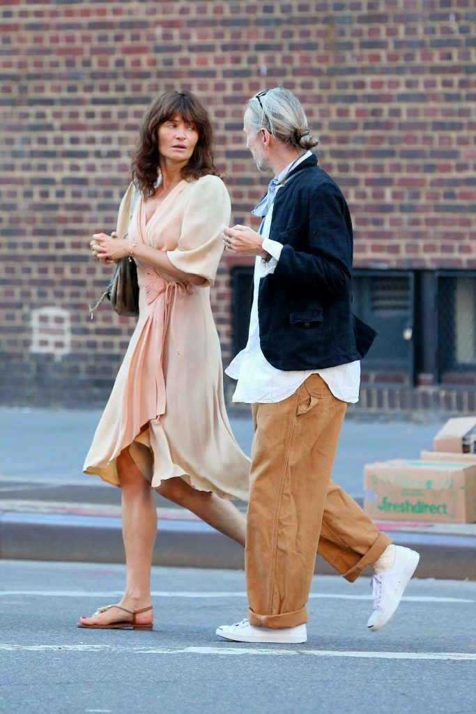 Helena Christensen Was Seen in West Village in New York City-2