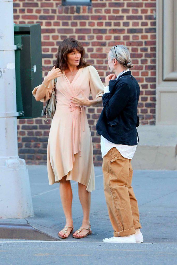 Helena Christensen Was Seen in West Village in New York City-3