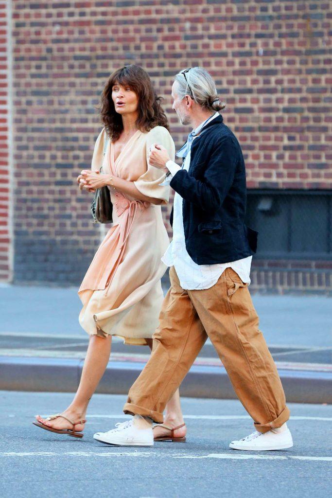 Helena Christensen Was Seen in West Village in New York City-4