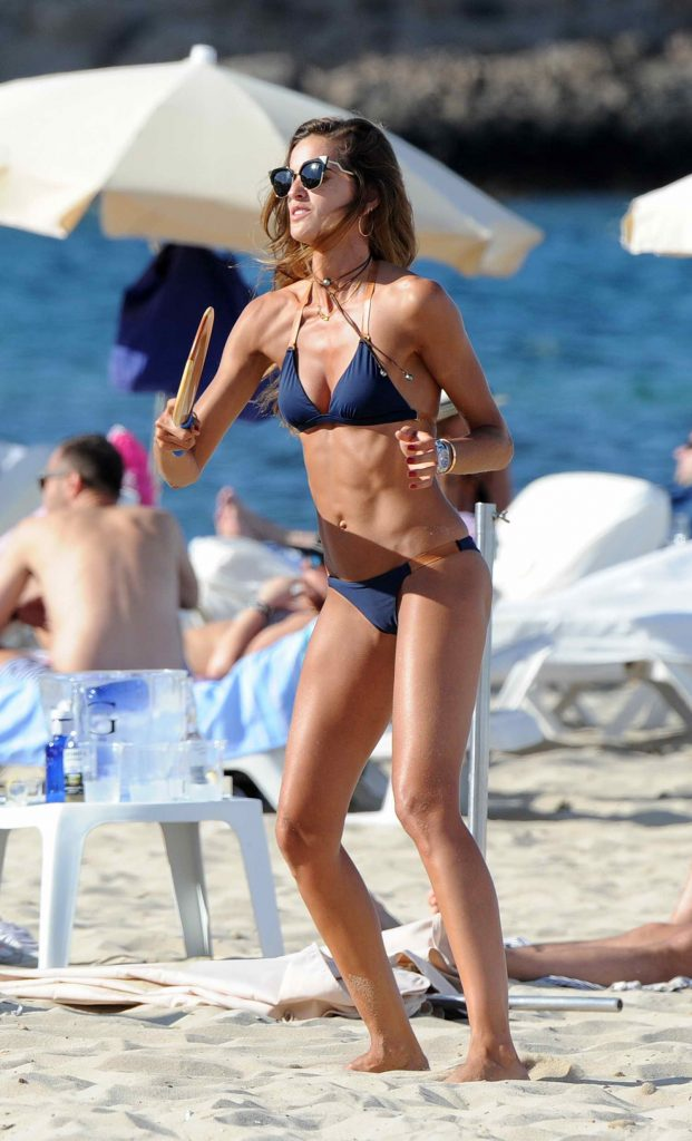 Iza Goulart in Bikini at the Beach in Ibiza-1