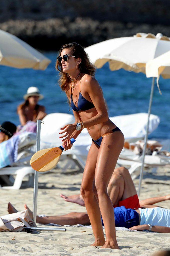 Iza Goulart in Bikini at the Beach in Ibiza-3