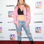 Joanna Jojo Levesque at LA Pride Music Festival in Los Angeles