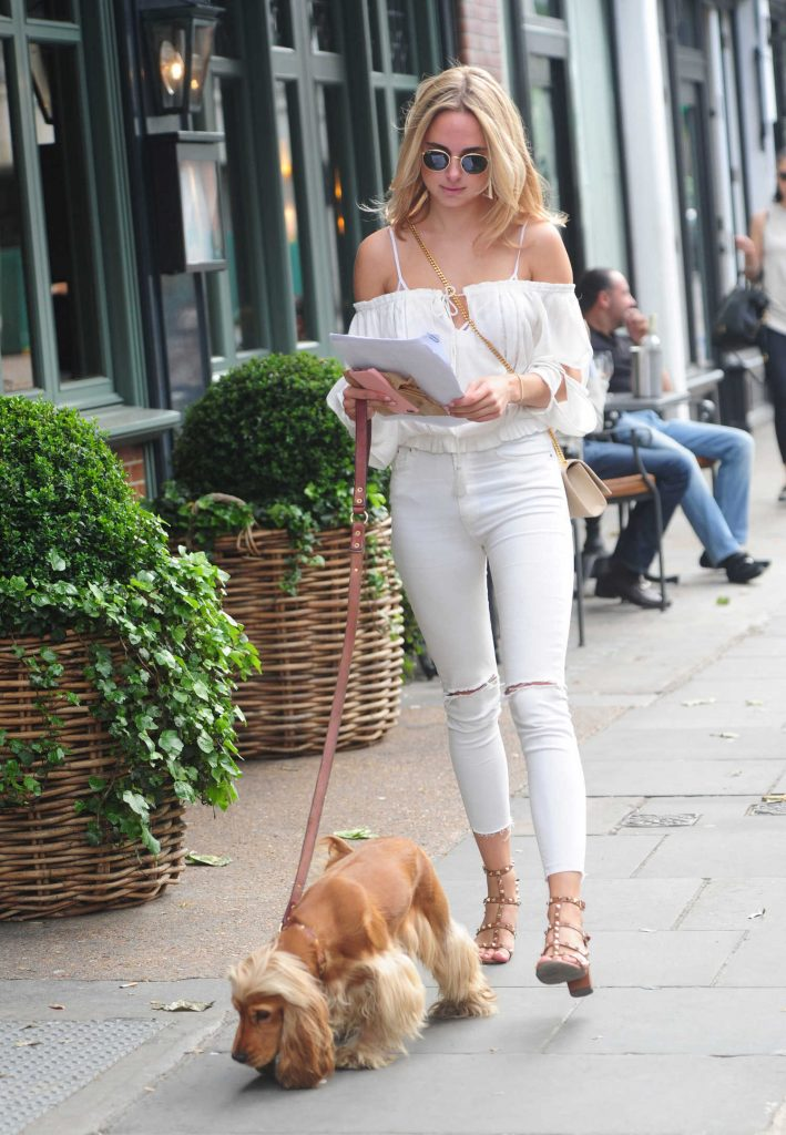 Kimberley Garner Walks Her Dog in London-2