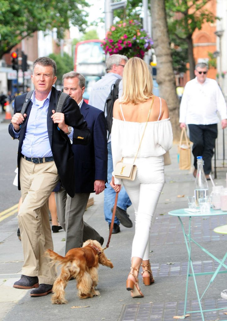Kimberley Garner Walks Her Dog in London-4