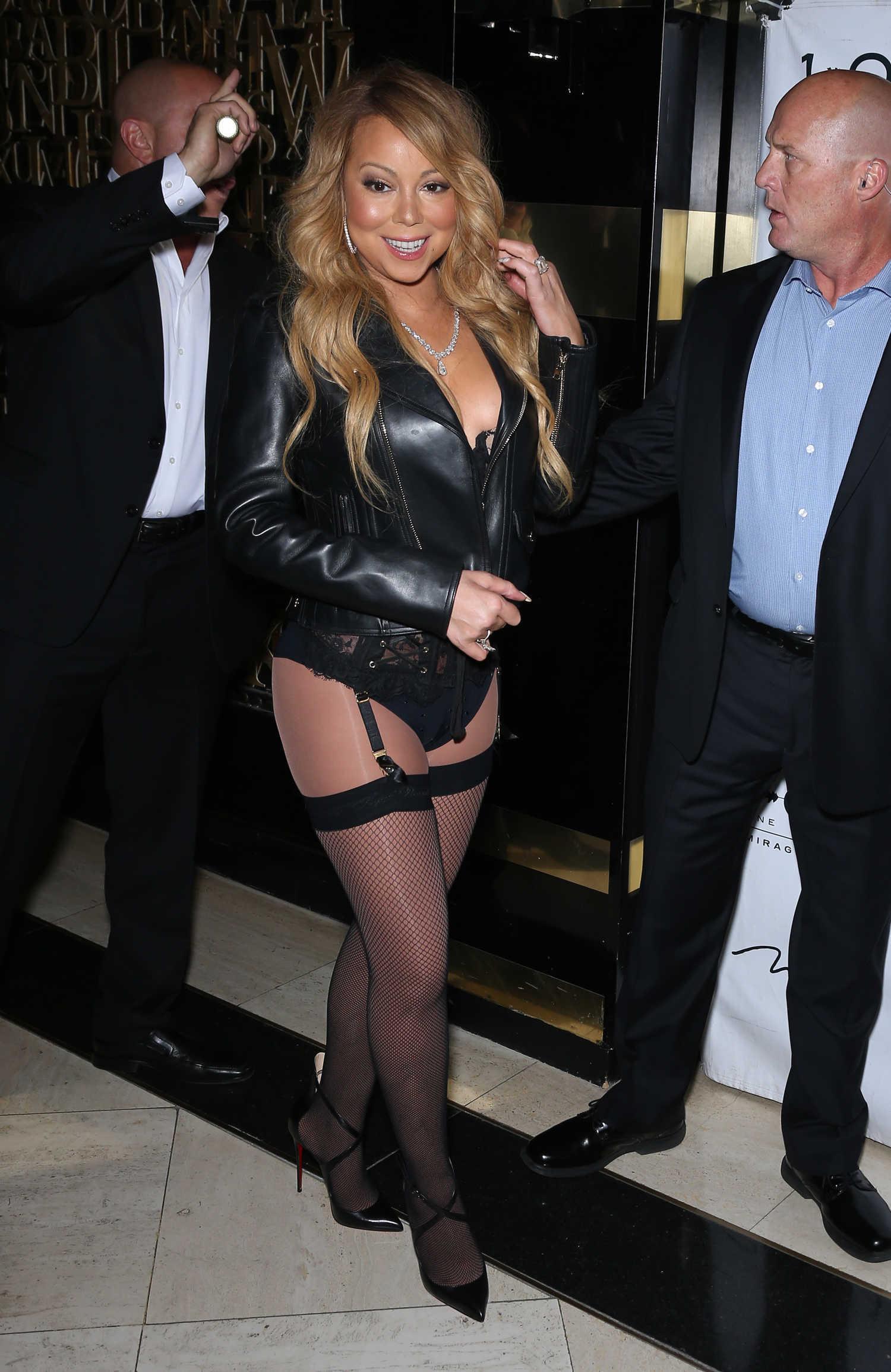 Mariah Carey Arrives At 1 Oak Nightclub In Las Vegas