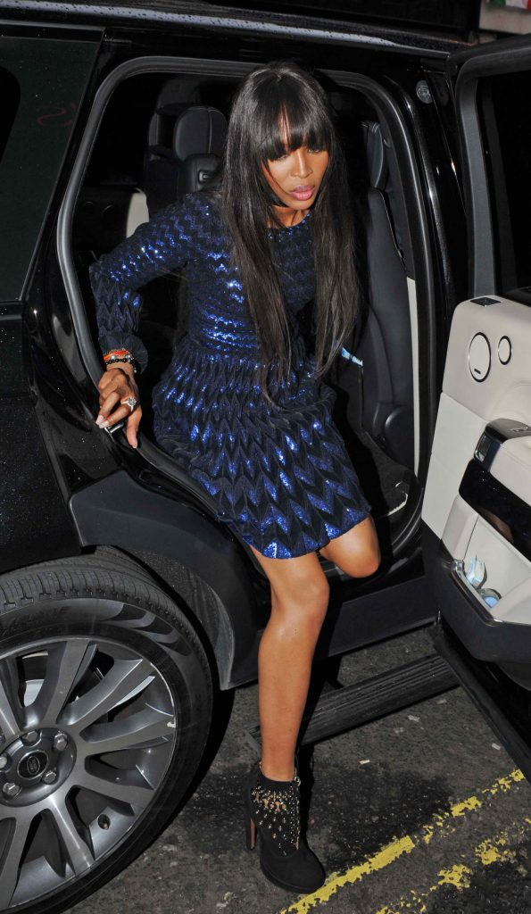 Naomi Campbell Arrives at The Hoping Foundation 10th Year Extravaganza at Ronnie Scott's Jazz Club in London-1