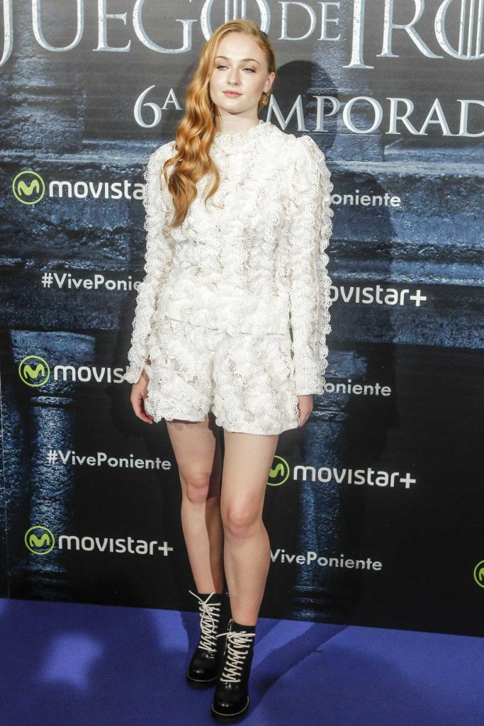 Sophie Turner at the Game of Thrones Season 6 Finale Premiere at Palfox Theater in Madrid-1