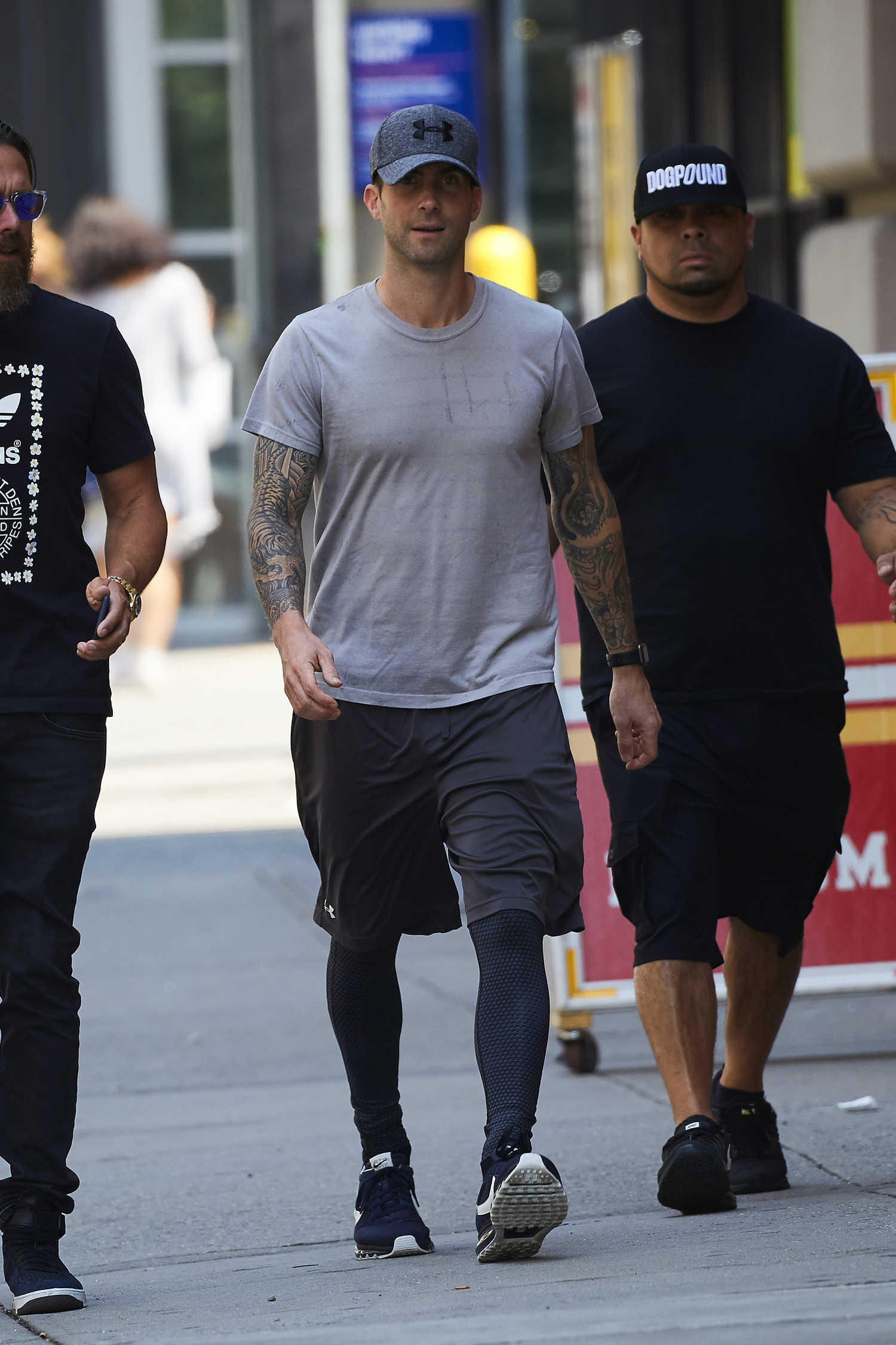Adam Levine Was Seen Out In New York Celeb Donut