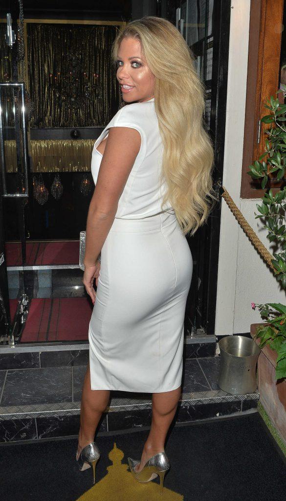 Bianca Gascoigne Leaves the Gaslight Club in London-4