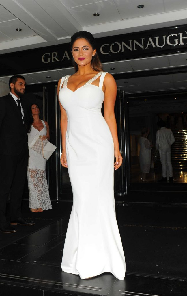 Casey Batchelor at The White Party Cocktail Gala in London-5