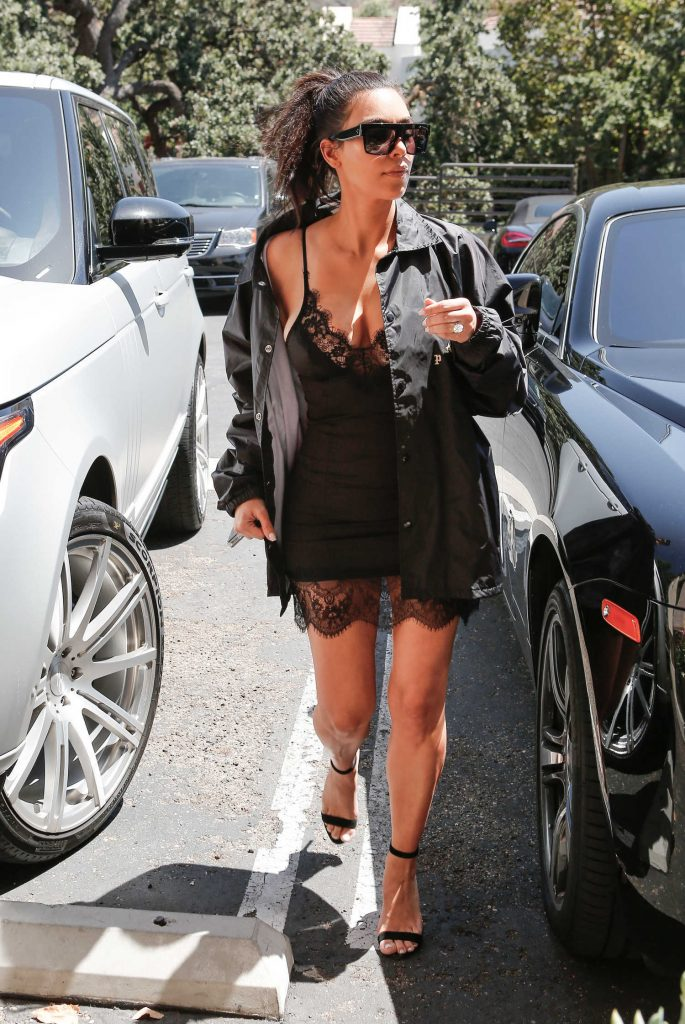 Kim Kardashian Was Spotted Out in Westlake Village-1