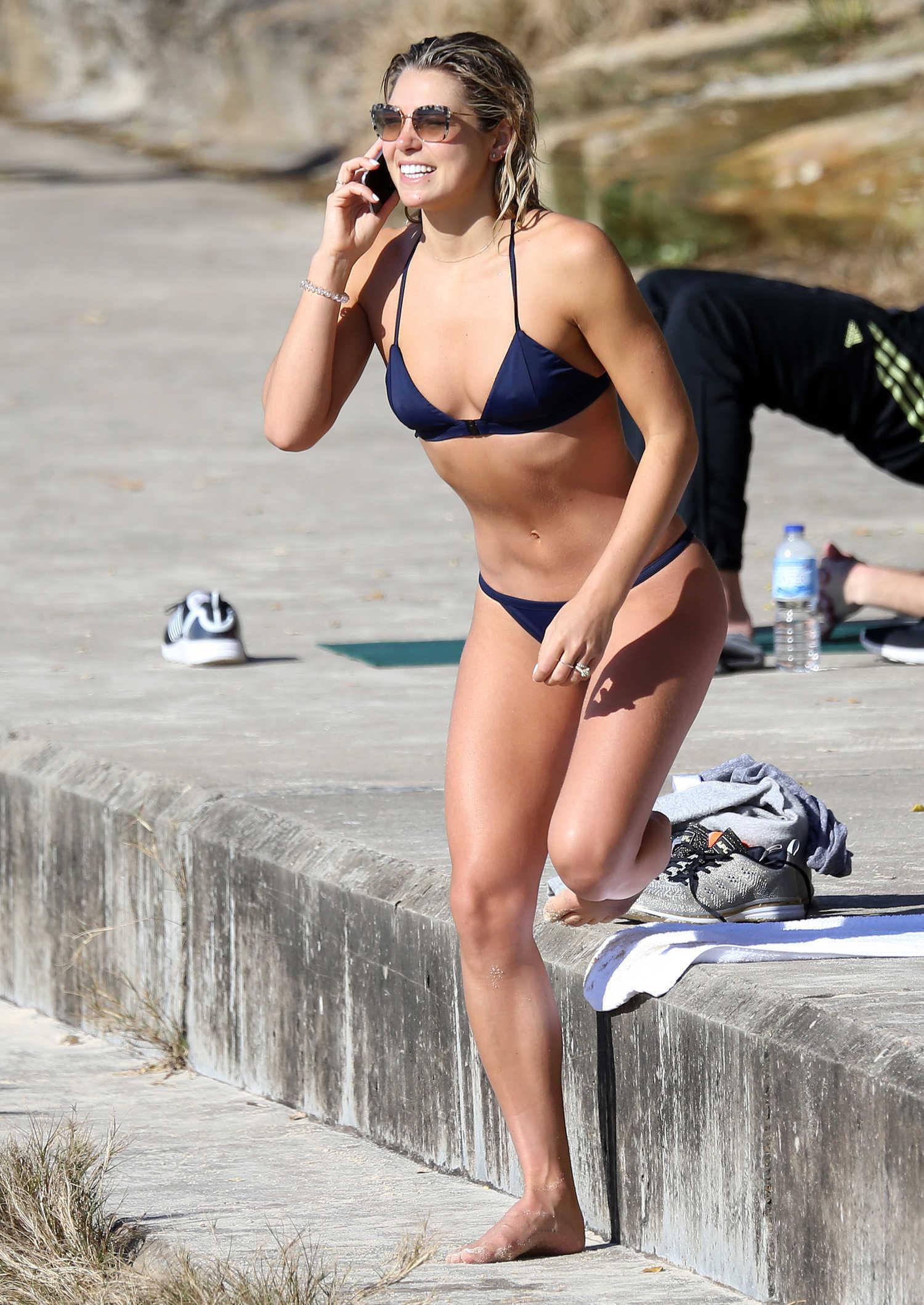 Ashley Hart Shows Off Her Bikini Body At Bondi Beach In
