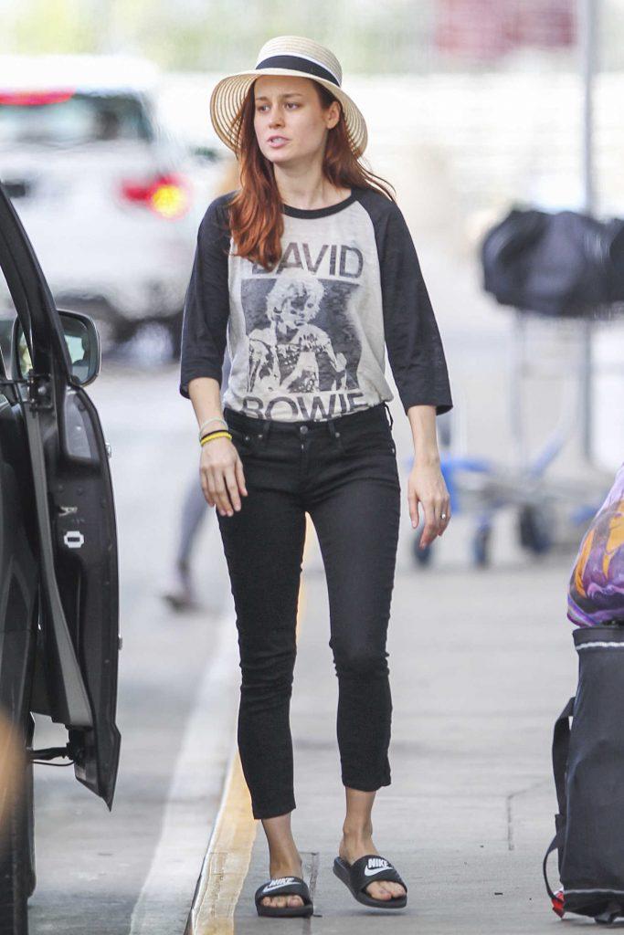 Brie Larson Departs Montreal-1