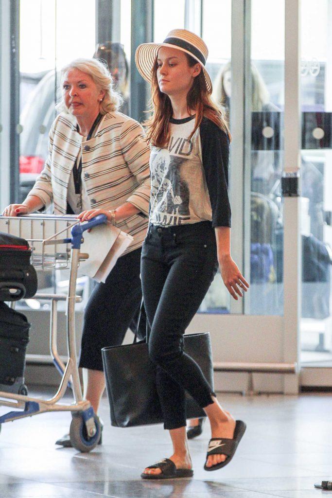 Brie Larson Departs Montreal-3