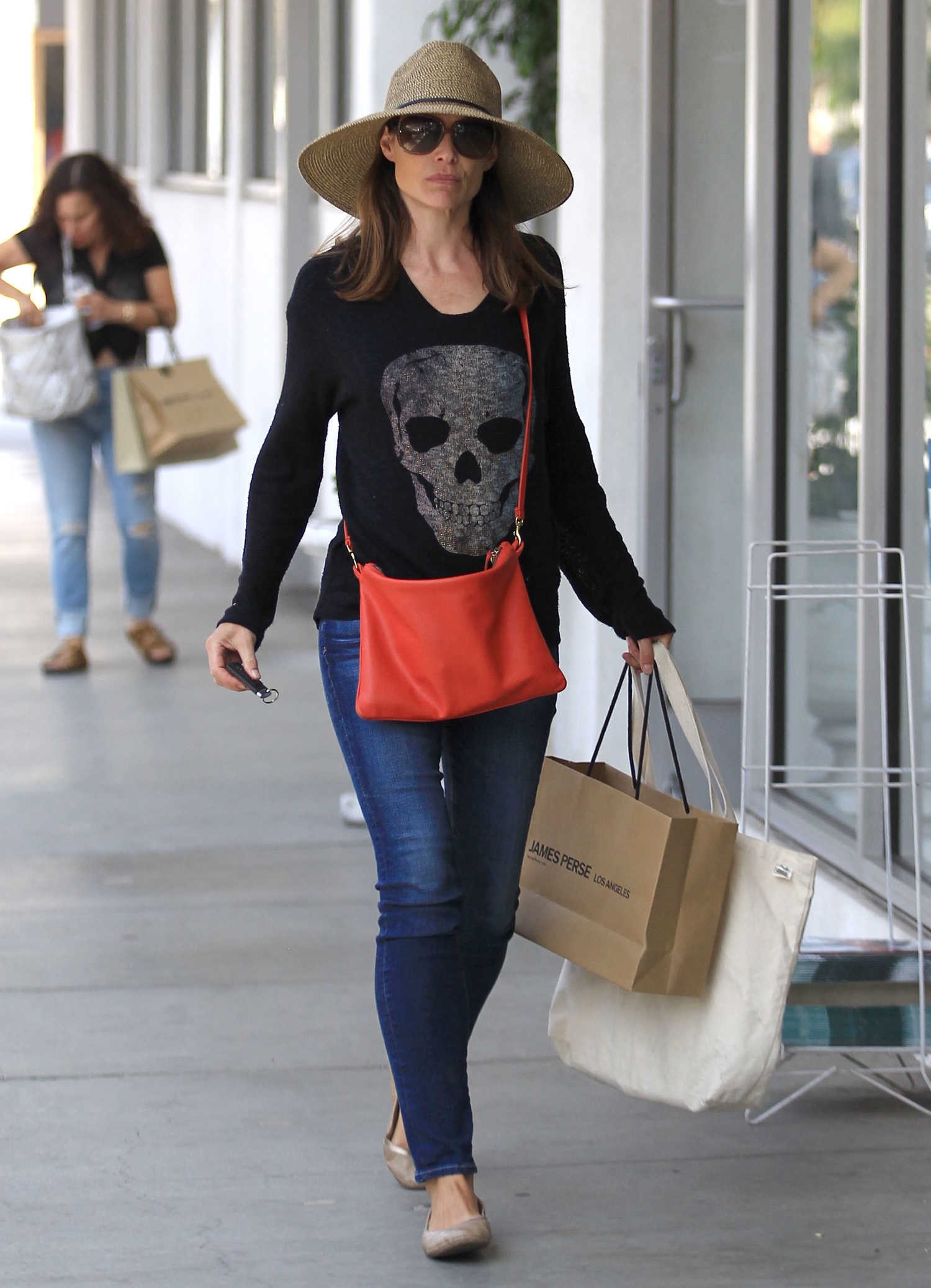 Claire Forlani Goes Shopping Out in Beverly Hills-1 Beverlyhills