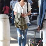 Danielle Campbell Arrives at JFK Airport in New York