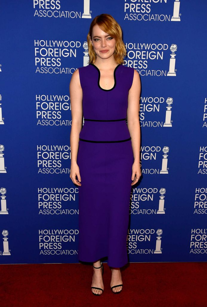 Emma Stone at Hollywood Foreign Press Association's Grants Banquet in Hollywood-1