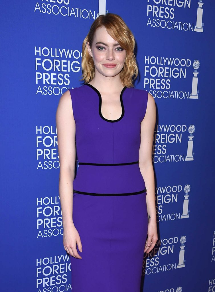 Emma Stone at Hollywood Foreign Press Association's Grants Banquet in Hollywood-4