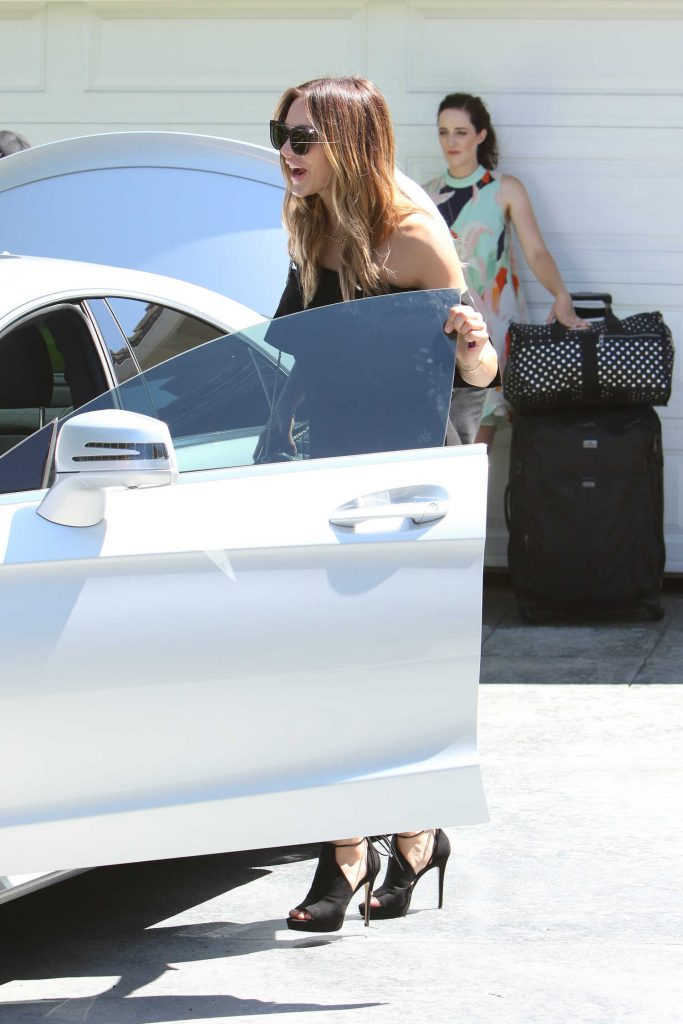 Katharine McPhee Arrives to the In Style Gifting Suite in Brentwood, California-1