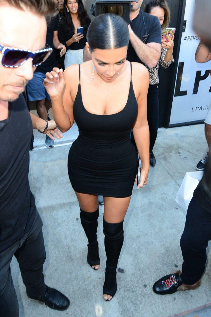 Kim Kardashian Was Seen on Melrose Avenue in West Hollywood-1