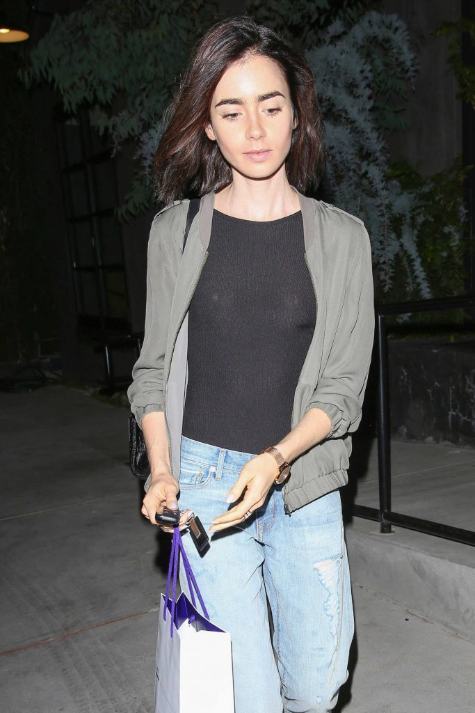 Lily Collins Leaves the Salon in West Hollywood-1