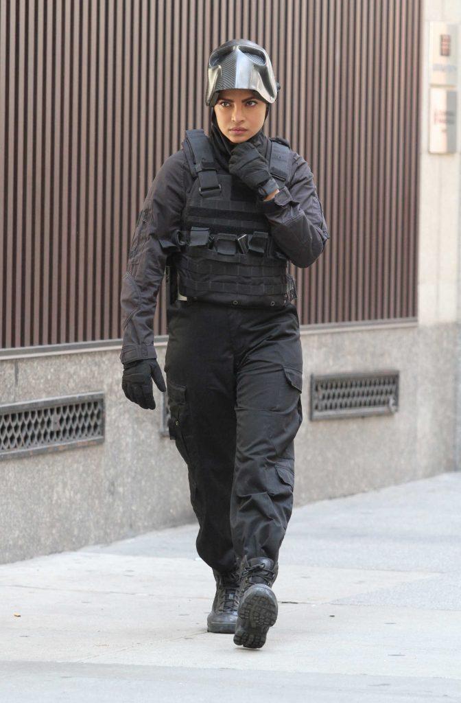 Priyanka Chopra on the Set of Quantico in Midtown Manhattan-1
