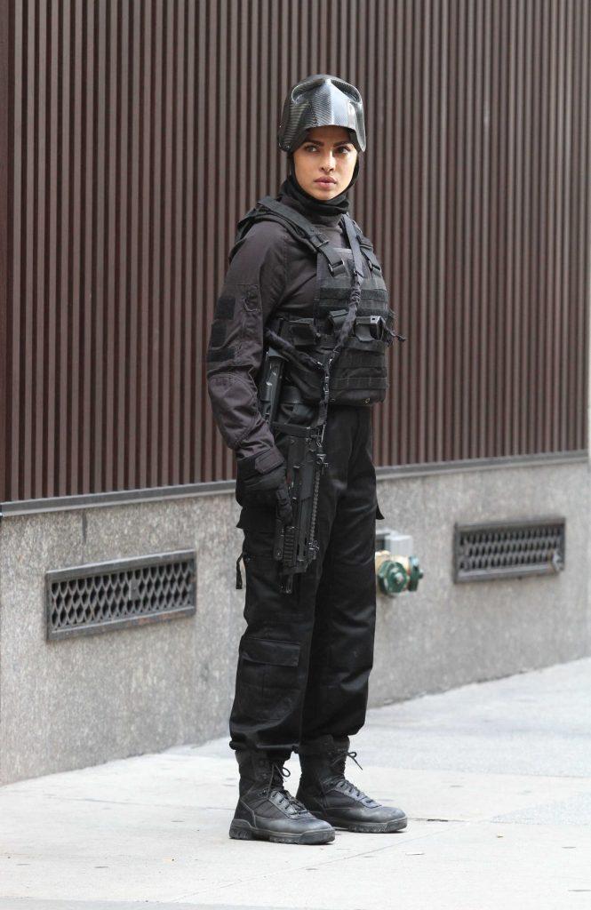 Priyanka Chopra on the Set of Quantico in Midtown Manhattan-2