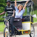 Rachel Hunter While Filming a Small Project in New York City