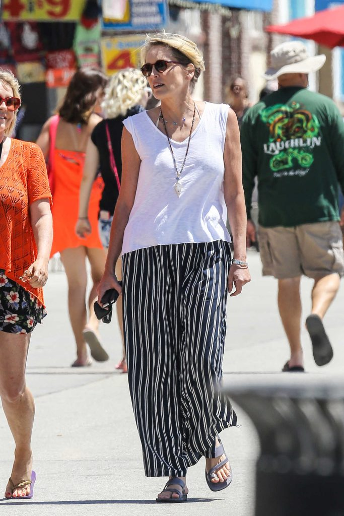 Sharon Stone Was Seen at the Beach Venice-1