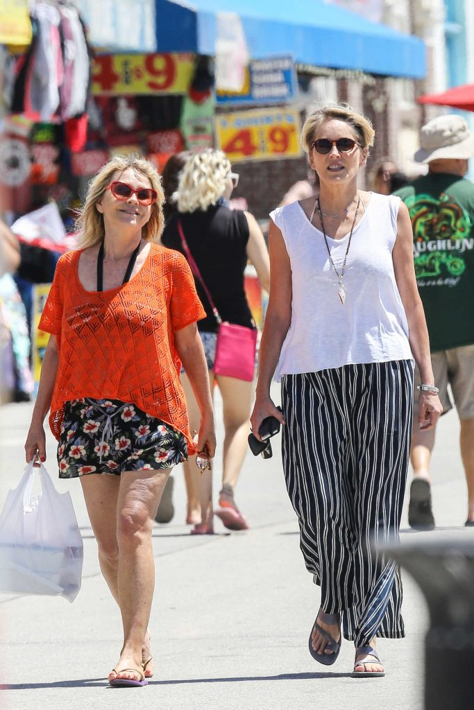 Sharon Stone Was Seen at the Beach Venice-2