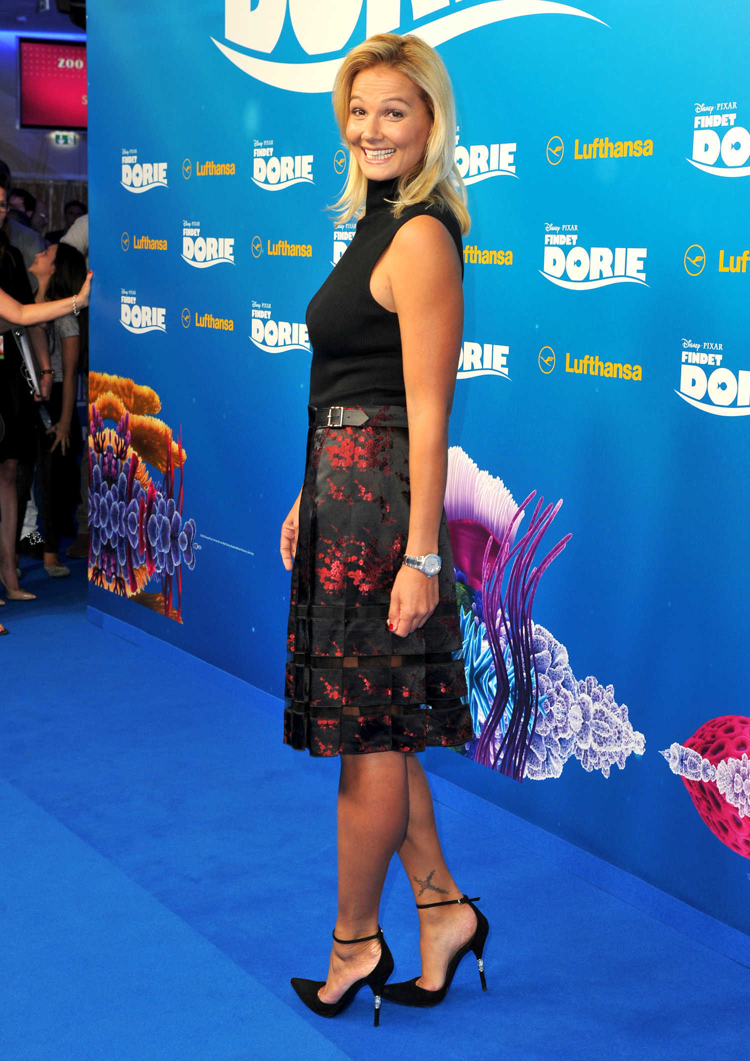 Franziska van Almsick at the Finding Dory German Premiere ... Anna Kendrick