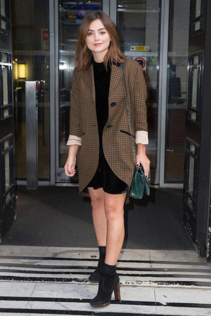 Jenna Coleman Leaves the Radio 2 Studio in London-1
