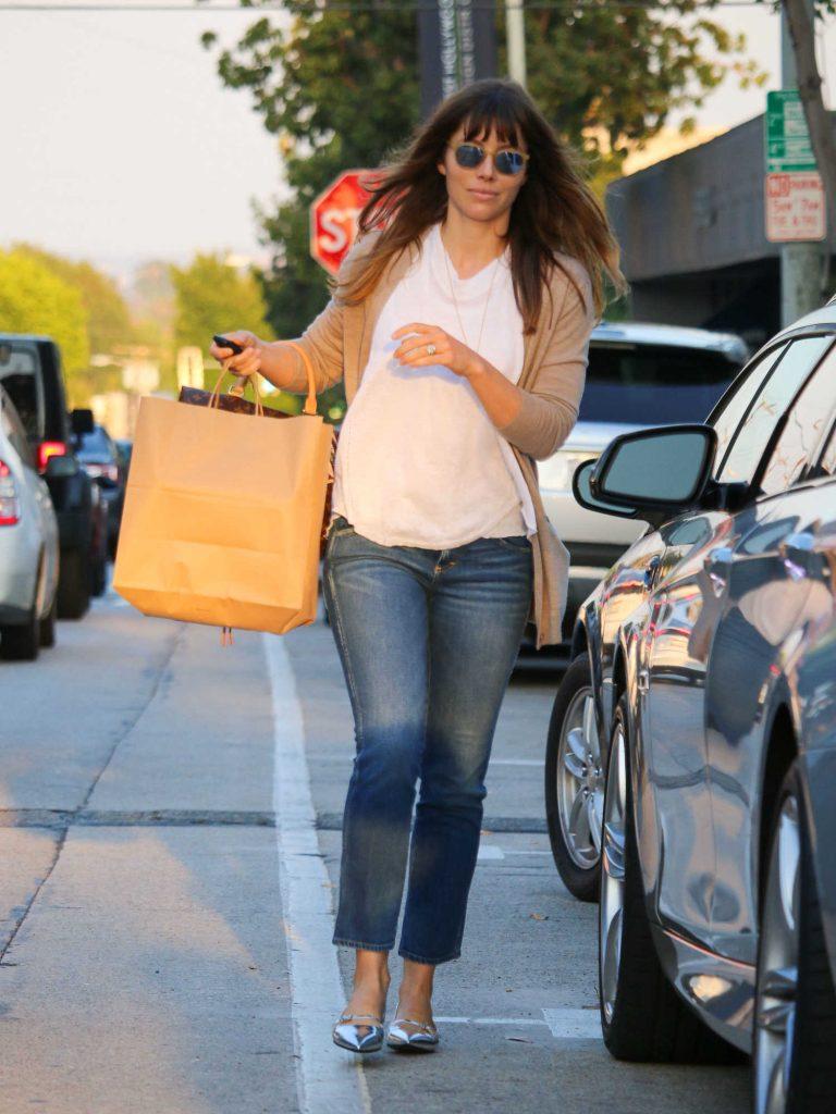 Jessica Biel Enters a Car in LA-2