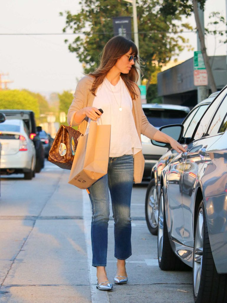 Jessica Biel Enters a Car in LA-3