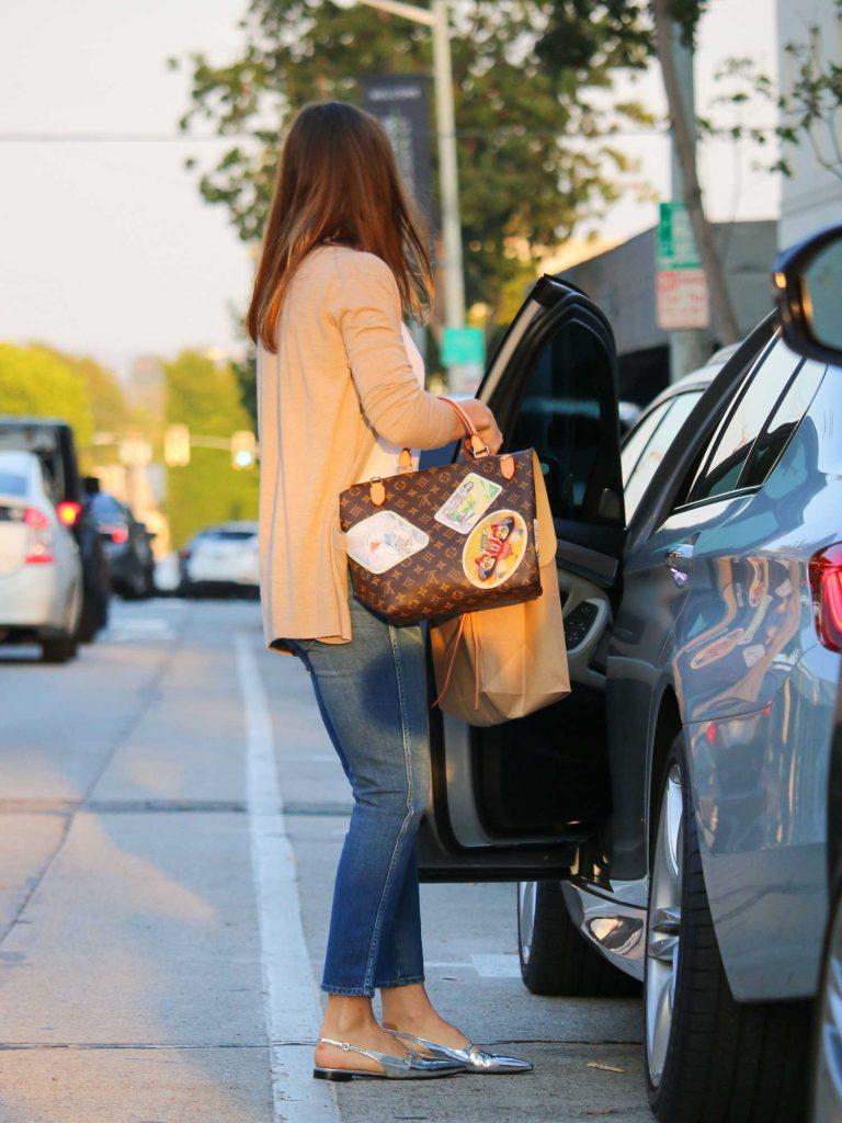 Jessica Biel Enters a Car in LA-4