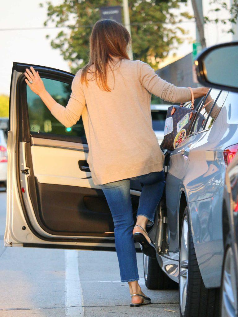 Jessica Biel Enters a Car in LA-5