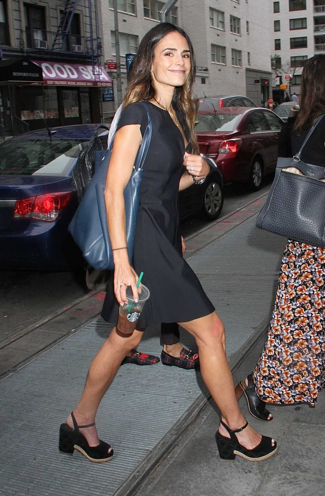 Jordana Brewster Visits Good Day New York-1