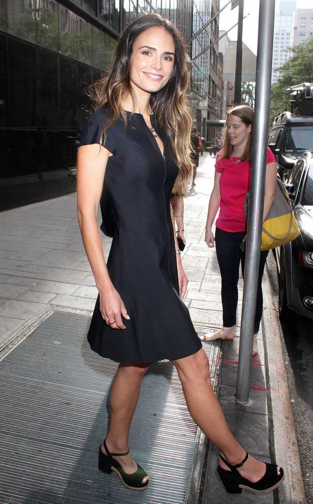 Jordana Brewster Visits Good Day New York-4